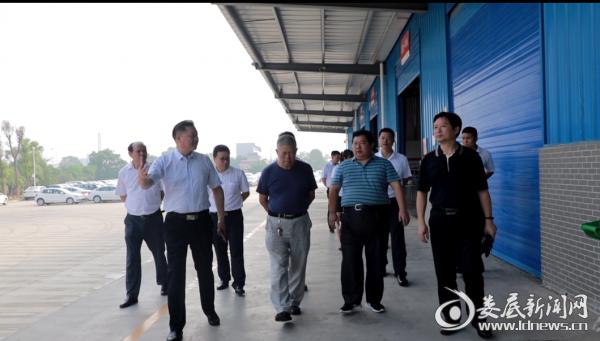 中国作协名誉副主席谭谈来新合作国际商贸城采风考察
