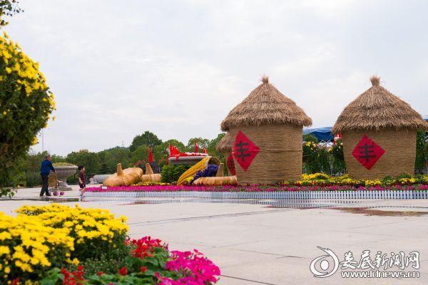 孙水公园国庆展区一角