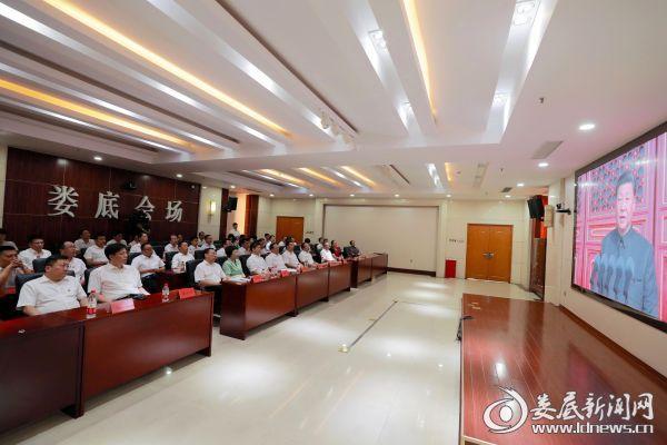 <b>李荐国杨懿文等市领导集中收看庆祝中华人民共和国成立70周年大会、阅兵式和群众游行实况直播</b>