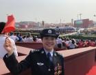 娄底市公安局人口与出入境管理支队支队长李贝受邀参加国庆观礼