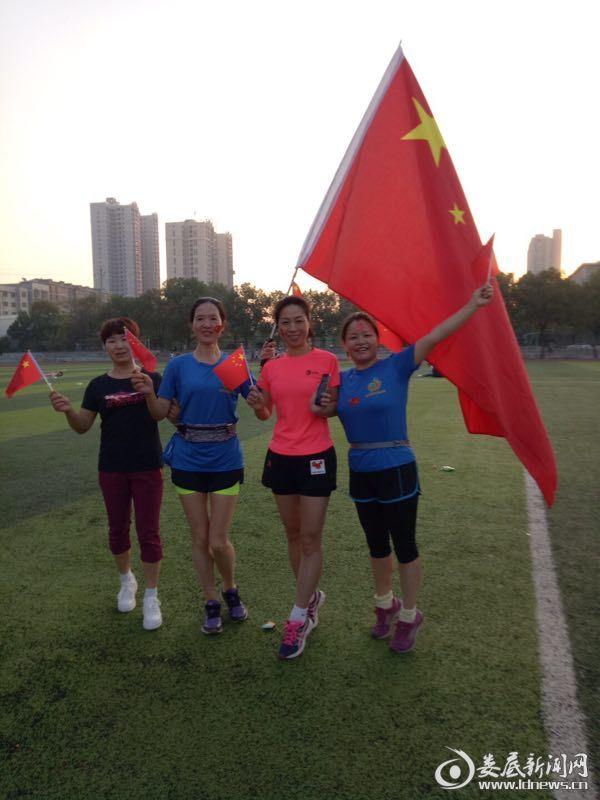 医院业余马拉松爱好者跑步庆国庆