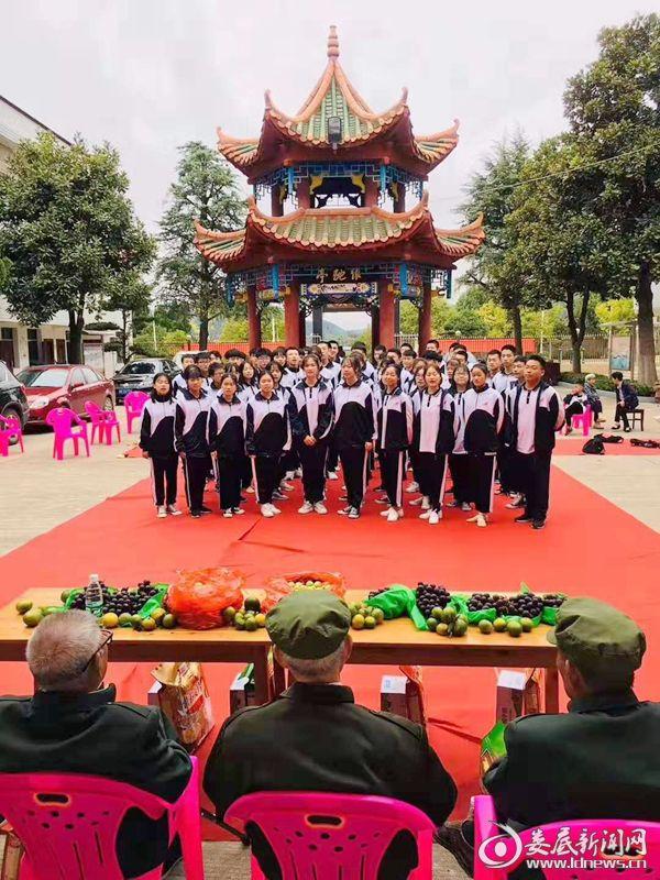 娄底二中学生重阳节开展志愿服务活动