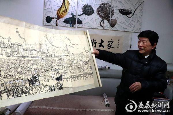 娄底八旬老人绘城圆梦 跨越时空的80幅手绘图明天展出