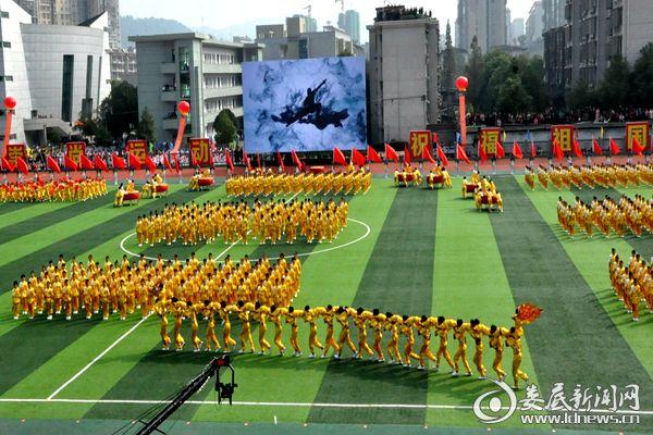 大型武术团体表演《中国魂》。 熊又华 摄DSC_8681_