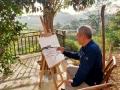 """山水畫家韓波鐘情婁底12年 盛贊這里是向往的""""桃花源"""""""