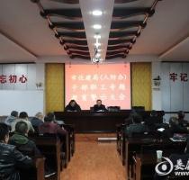 冷水江市住建局(人防办)召开专题警示教育