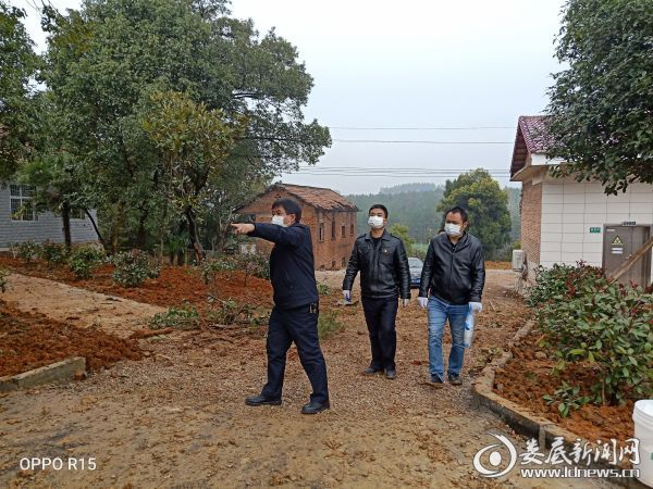 2、陈辉书记现场安排绿化施工