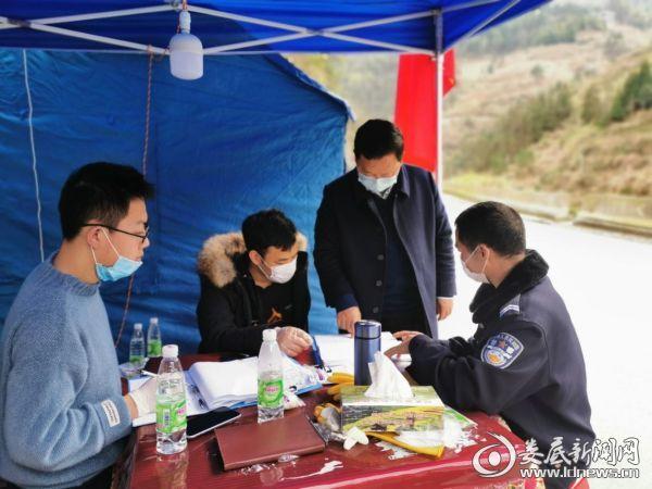 姜世星在文田镇督查指导新冠肺炎疫情防控工作