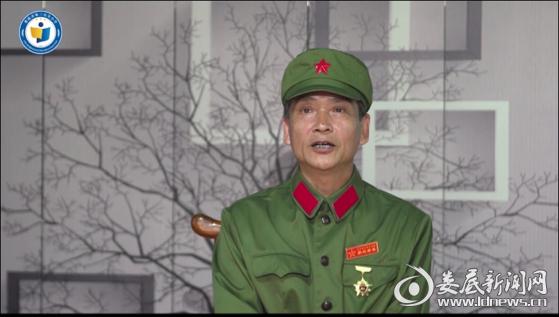 (学校邀请了越战老兵谢平平讲述身边鲜活生动的革命故事,并录制成视频在学校网络平台播放)
