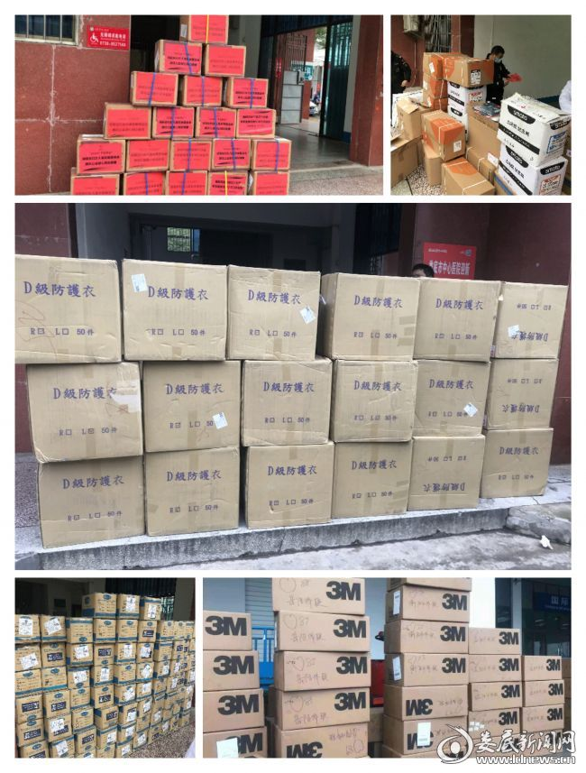 设备科每天接收上千箱物资和设备