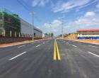 娄星工业集中区道路建设的又一示范项目古溪街建成完工