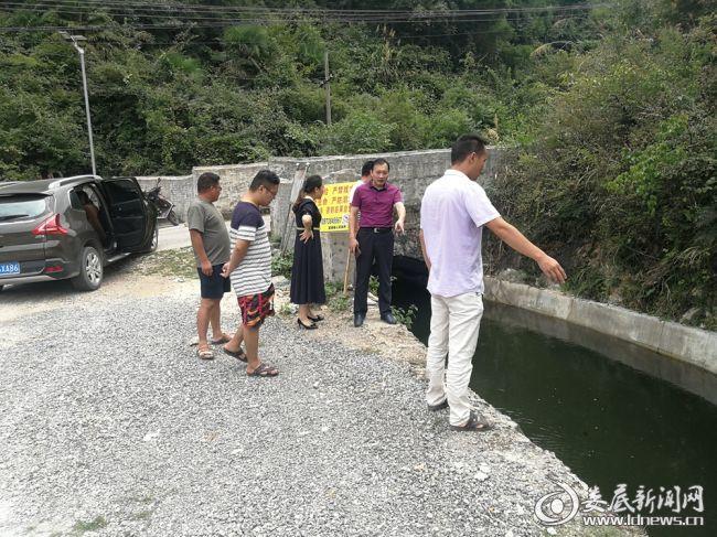 9月3日查看车田江水库大坪村段水渠