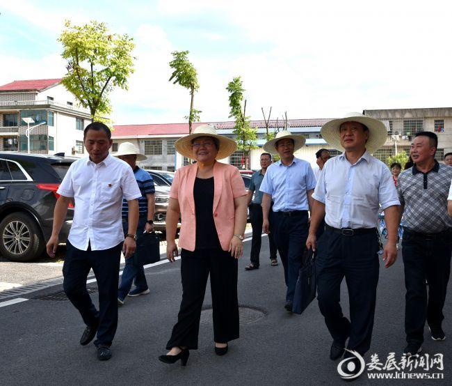 1、市人大常委会党组书记、副主任、一级巡视员石艳萍在神童湾社区督查帮扶创文管卫工作