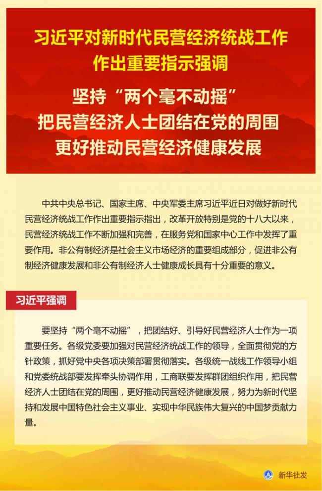 《【恒达娱乐总代理】习近平对新时代民营经济统战工作作出重要指示》