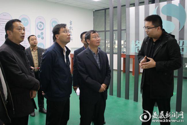 (湖南格仑超熔科技有限公司负责人汇报项目生产情况)