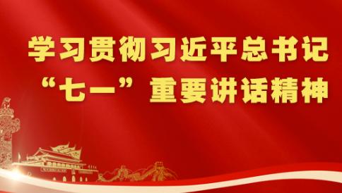 """专题丨学习贯彻习近平总书记""""七一""""重要讲话精神"""