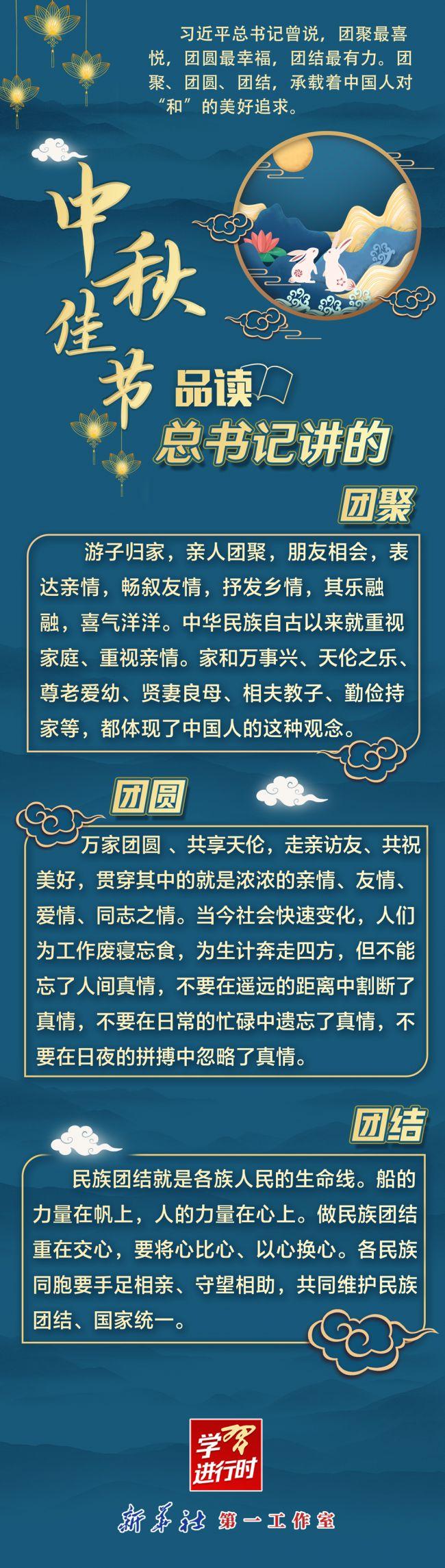 《【凤凰联盟注册平台】学习进行时| 中秋佳节,品读总书记讲的团聚、团圆、团结》